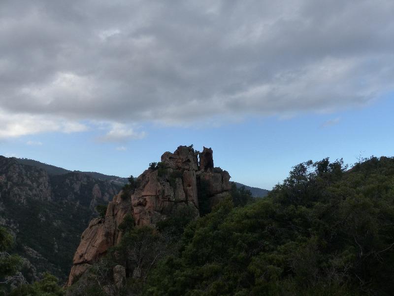 la randonnée du château fort à Piana